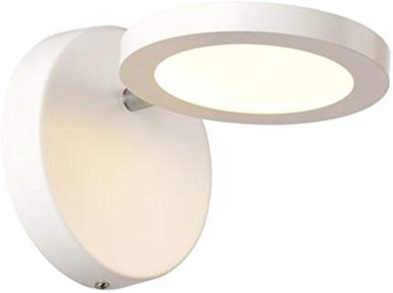 Led-Wandleuchte warmen Nachttischlampe einfache, moderne und kreative Schlafzimmer TV Balkon gang Treppe Wandleuchte (Farbe  wei)