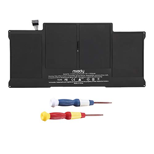 A1405 A1369 A1377 A1466 A1496 New Laptop Replacement Battery Compatible with MC965 MC966 MacBook Air 13 Inch(Late 2010 Mid 2011 2012 2013 Early 2014 2015 2017) Li-Polymer (7.6V/7000mAh)