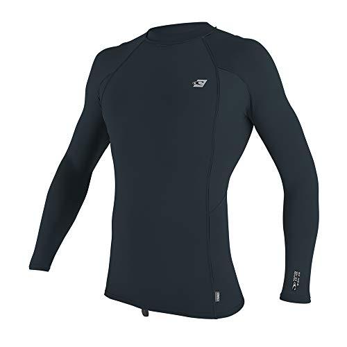 O'Neill Men's Premium Skins UPF 50+ Long Sleeve Rash Guard, Slate/Slate/Slate, L