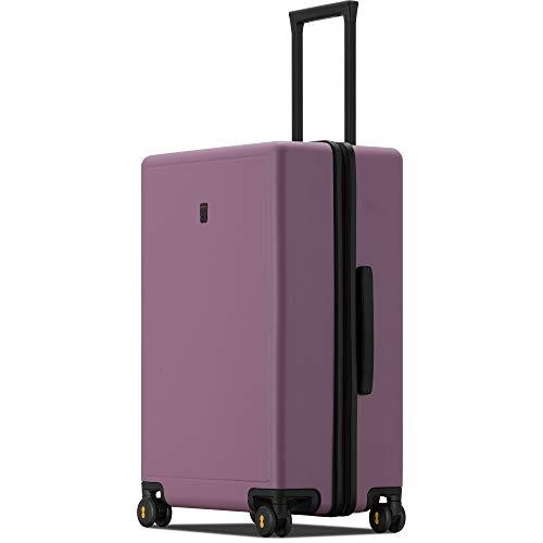LEVEL8 Valigia Hardside PC Matte Hard Shell Bagagli per trasporto e check-in con TSA Lock, Ruote Spinner, Rosa scuro (viola) - LP-9861M-17T00