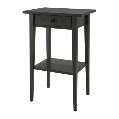 IKEA Hemnes Bedside Table Black / Brown 46 x 35 cm
