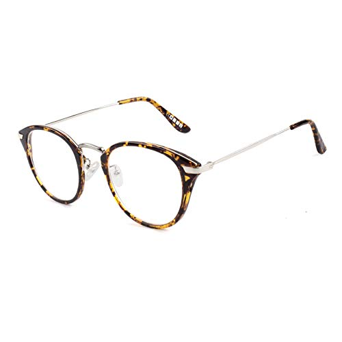 CGID 2019 New Style Fashion Blue Light Blocking glasses Anti Glare Fatigue Safety Computer Glasses with Premium TR90 Tortoise Metal Frame Transparent Lens BL903