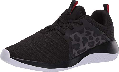 Avia Avi-Coast Walking Shoe, Black/Fiery Red/Leopard, 6.5 M US