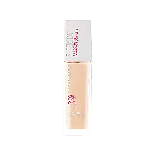 Maybelline Super Stay Full Coverage Liquid Foundation Makeup, Fair Porcelain, 1 Fl Oz