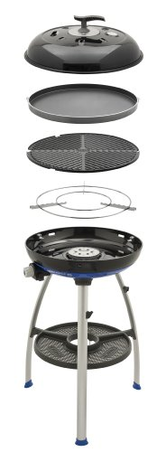 Cadac 8910-50 Carri Chef 2 Outdoor Grill with Pot Stand, Barbeque Grid and Split Grill/Griddle Plate