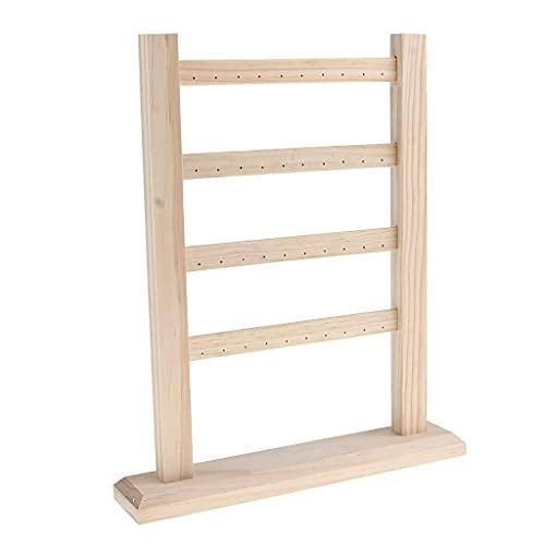 jwj Estante de la joyería con ho exhibición de la joyería de madera que cuelga el estante de los pendientes del soporte de
