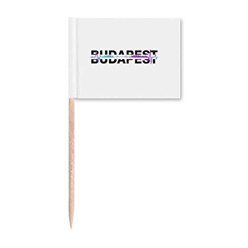 Urban Radio Budapest Architektur Zahnstocher Flaggen Marker Topper Party Dekoration
