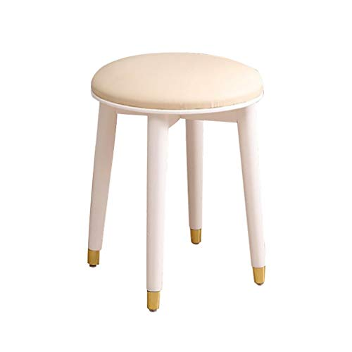 AI XIN Ronde moderne make-up dressoir kruk, gewatteerde bank met Rubberwood benen, Country Style Vanity kruk, Piano stoel bank in slaapkamer, badkamer, eenvoudige montage,