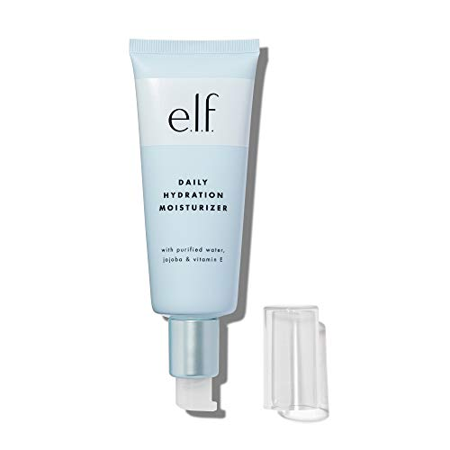 e.l.f., Daily Hydration Moisturizer, Lightweight, Nourishing, Long Lasting, Hydrates, Locks In Moisture, Easy to Apply, Aloe, Jojoba Oil & Shea Butter, 2.53 Fl Oz