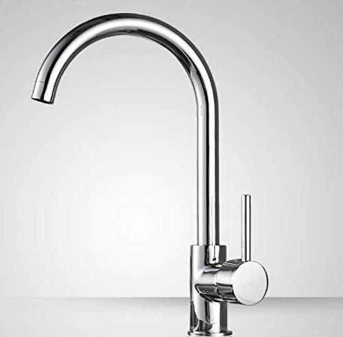 Wastafelarmatuur voor badkamer, warm en koud toilet wastafel meubels badkamer eenvoudige greep waterkraan eengaatjesbatterij
