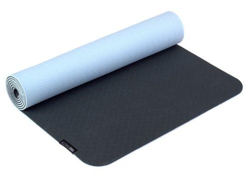 Yogistar Unisex Yogamatte Pro Yogamatte, Grau Blau, 183.0 x 61.0 x 0.5 cm