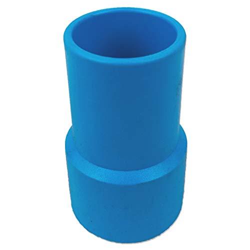 well2wellness® Poolschlauch-Muffe/Poolsschlauch-Anschlussstück 38mm - drehbar - blau (107012)