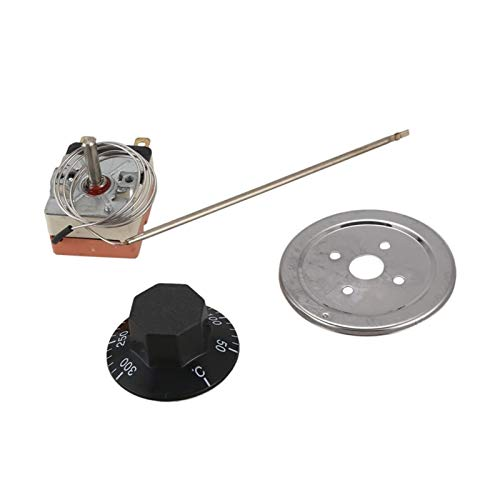 Nixi888 Nuevo Horno de Control de Temperatura del termostato de 50 a 300 Grados NC (Color : Silver)