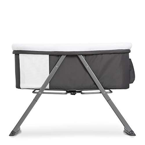 Hauck Dreamer Babywiege/Stubenwagen/Beistell-/Reisebett, inkl. Matratze und Spielzeugtasche, mit Schaukelfunktion, faltbar, klappbar und tragbar, Grau - 11