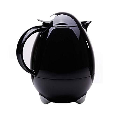 Thermos Isolation Tasse Pot Kettle ménages Eau Chaude d'ébullition Bouteille d'eau Thermos Thermos Thermos en Acier Inoxydable Grande capacité 1L (Couleur: Noir) Peng (Color : Black)