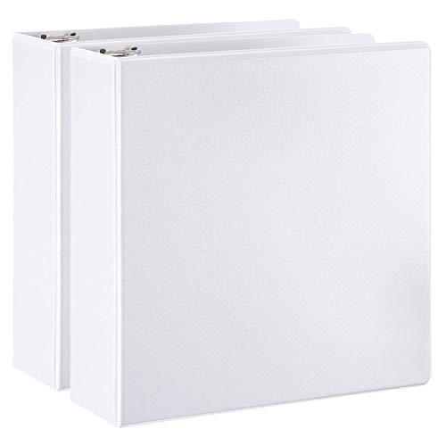 Amazon Basics D-Ring Binder - 3 Inch, 2-Pack