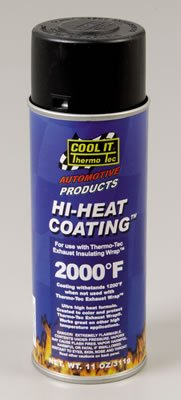 Thermo-Tec 12001: Exhaust Wrap Coating, High-Temperature, Black, 11 oz. Spray Can, Each (1)