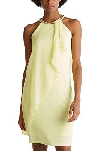 ESPRIT Collection Damen 020EO1E351 Kleid, Gelb (760/Lime Yellow), 44