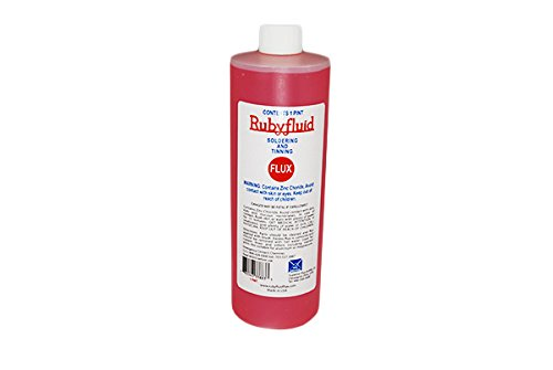 American Beauty Tools CS-FX5 Ruby Fluid Liquid Flux with 1 pint Bottle