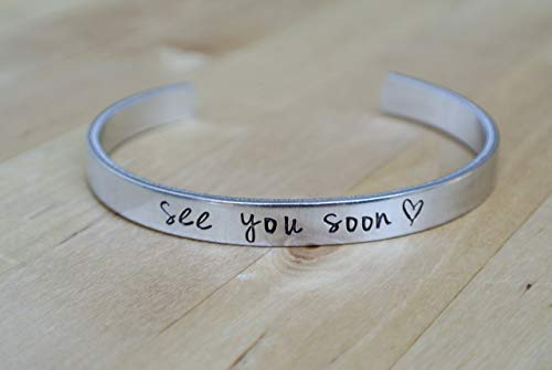 See You Soon Bracelet, Long Distance Relationship Gift, Deployment Gift For Her, Deployment Countdown, LDR