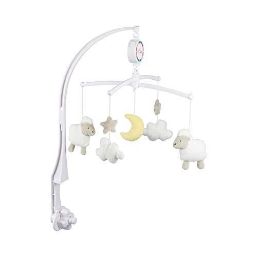 solini Le mobile musical « petits moutons » mobile bébé, blanc