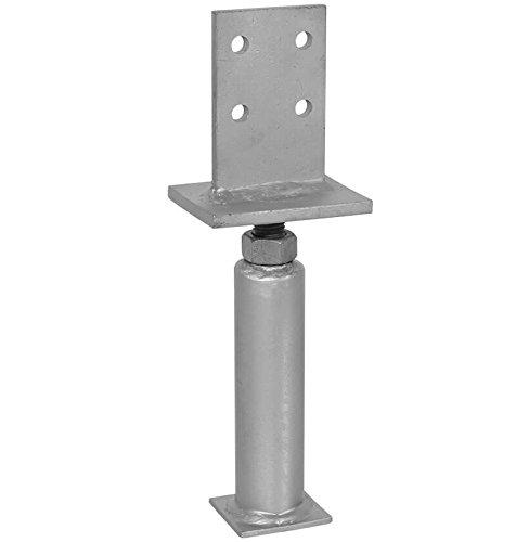 1 Stück profiBAUline Pfostenträger T-Form in Beton höhenverstellbar Grösse 500 Höhe