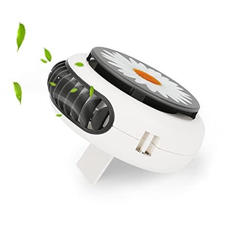 Ventilador USB Achort Ventilador de Escritorio portátil mini 3 velocidades Ventiladores Recargable Con cable de adecuado portátil y Personal para el hogar, la oficina