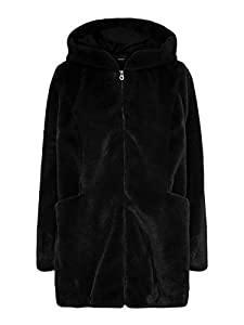 ONLY Damen ONLMALOU Faux FUR Coat CC OTW Kunstpelzmantel, Black, XXL