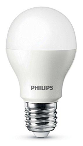 Philips 9.5W E27 Bombilla LED estándar mate, 9 W, Plata y blanco, 1 unidad