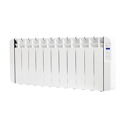 Haverland RC11BL - Emisor Térmico De Fluido Bajo Consumo, 1250W de Potencia, 11 Elementos, Programable, Ideal Espacios Reducidos