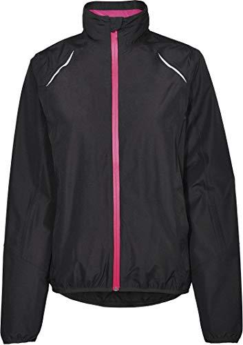 Crivit® Damen Fahrradjacke Fahrrad-Regenjacke, wasserdicht windicht atmungsaktiv (schwarz pink, Gr. M - 40/42)