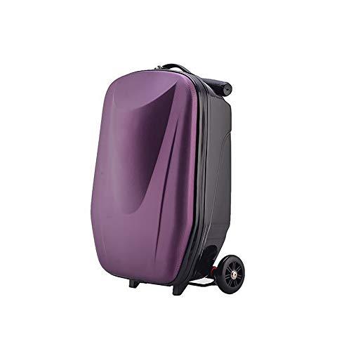 Outdoor luggage 20'Scooter Equipaje, Impermeable Llevar en el Equipaje, Scooter 3 Ruedas Caso de Viaje,Purple