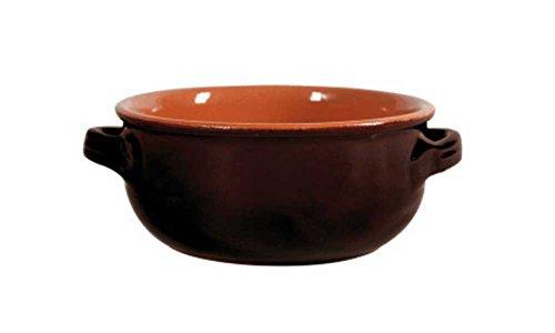 DE SILVA CASSERUOLA Marrone in Ceramica 2 Manici 30CM Cucina CASA PENTOLA