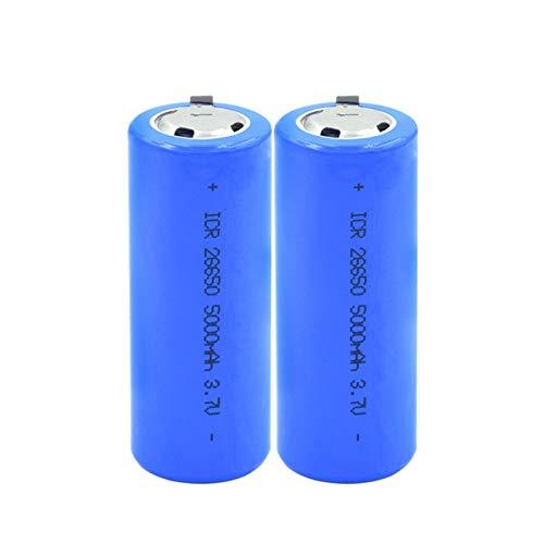 hsvgjsfa Batería De ión De Litio De 3.7v 26650 5000mah, Recargable para Las CéLulas del MicróFono De Walkietalkies 2pieces