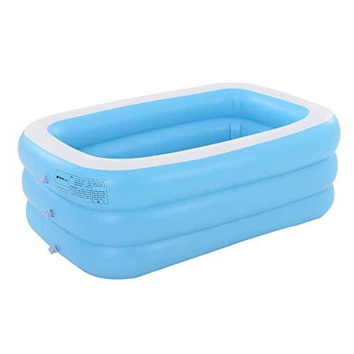 Tragbare Folding aufblasbare Badewanne, Erwachsene Spa Pool Geeignet für Kinder Kid, alte Leute Dusche Inflatable Pool Badezimmer Haus, voll aufgeblasenen 196 * 143 * 60 cm,130 * 90 * 48cm