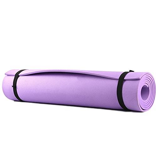 TYUTYU Alfombra de Yoga Aptitud Antideslizante Ejercicio Ejercicio Entrenamiento Pilates colchón Camping Picnic Alfombra de rastreo (Color : Purple)