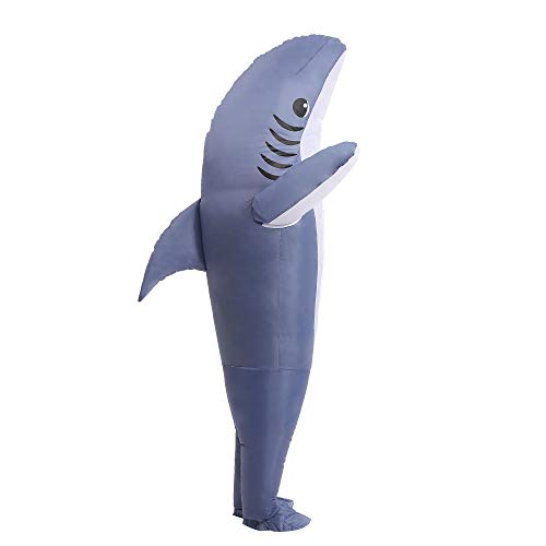Inflatable Costume Blow up Costume Shark Game Fancy Dress Halloween Jumpsuit Cosplay Outfit Gift,Adult