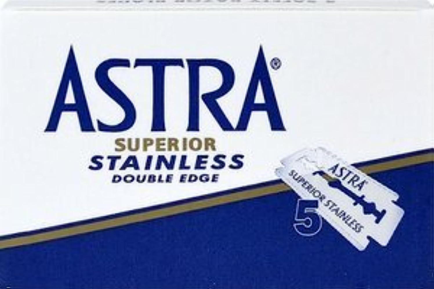 確かめる長いです懇願するASTRA Superior Stainless 両刃替刃 5枚入り(5枚入り1 個セット)【並行輸入品】