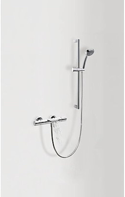 Drei griferia–Kit Thermostat Bad  Dusche Max · Wandstange  20,6mm. Long. 673mm. (034.637.06). · Dusche Schutzhülle Antikalknoppen (299.631.03). · Schreibtischlampe Satin (91.34.609). (06217402)