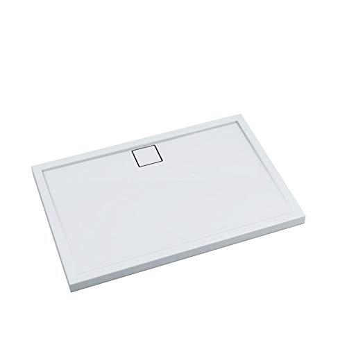 Receveur de douche receveur de douche rectangulaire acrylique Coffre Plat Stable 80 x 100 x 5,5 Plaque de douche Système de douche Board stable Sound®
