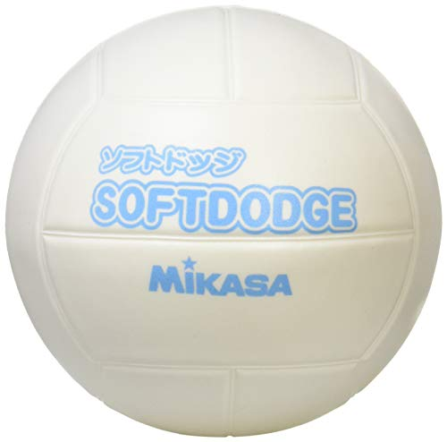MIKASA Soft Dodge Ball 23.6 inches (60 cm) (For Infants to Elementary School Students), 7.1 oz (200 g), White LD - W