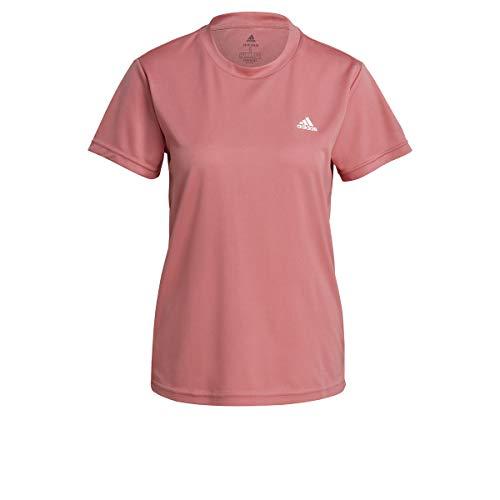 adidas GL3724 W SL T T-Shirt Womens Hazy Rose/White M