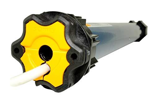 Somfy Smart Home Funk Rolladenmotor Oximo 50 io inkl. Einbruchschutz durch 3 Hochschiebesicherungen, Motorlager, Anschlusskabel und SW 60 Adapter/Mitnehmer. (Oximo io 6/17)