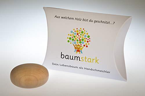 Baumstark Weide 45mm mit Baumhoroskop (1.3. -10.3. und 3.9. -12.9.) Handschmeichler, Holz, 8 x 11.5 x 2.8 cm
