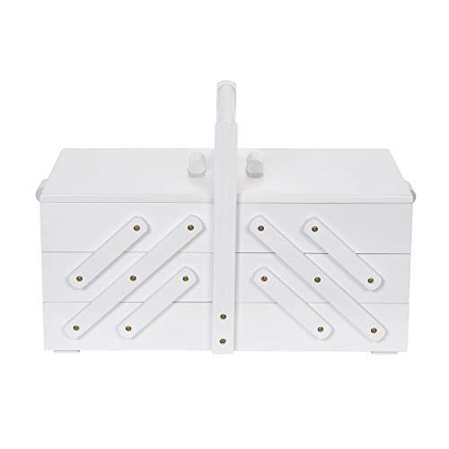 Prym 612581 - Scatola da cucito in legno, misura L, colore: Bianco
