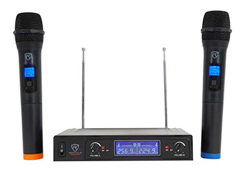 Rockville RWM132V VHF Wireless Dual Handheld Microphone System/High Sensitivity