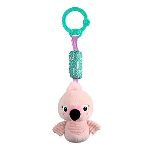 Bright Starts Chime Along Friends On-the-Go Take-Along Toy - Flamingo, Ages Newborn +