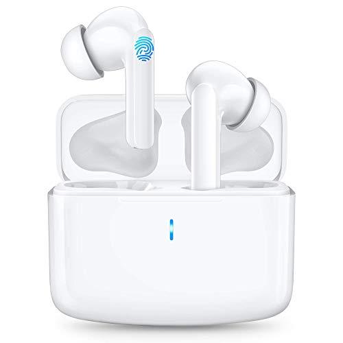 Cuffie Bluetooth Senza Fili Bassi Potenziati Auricolari Bluetooth con Ricarica Rapida USB-C IPX6 Impermeabili, Durata 40 Ore, Cuffie Wireless per Samsung iPhone Huawei