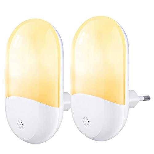 ACADGQ Luz Nocturna Infantil (2 Pack),Luz Noche con Luz Sensor,Lámpara LED,Lámpara de Mesita,para Niños para Habitación Bebé,Dormitorio,Sala,Pasillos,Baño,Cocina [Clase de eficiencia energética A++]