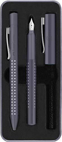 Faber-Castell 201529 - Set estilog. M y bolígrafo m. Gris moteado.
